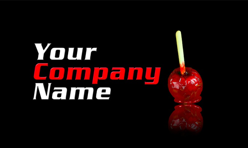 Logo for sale with toffee apple
